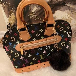 Black Multi Color Louis Vuitton Alma Bag